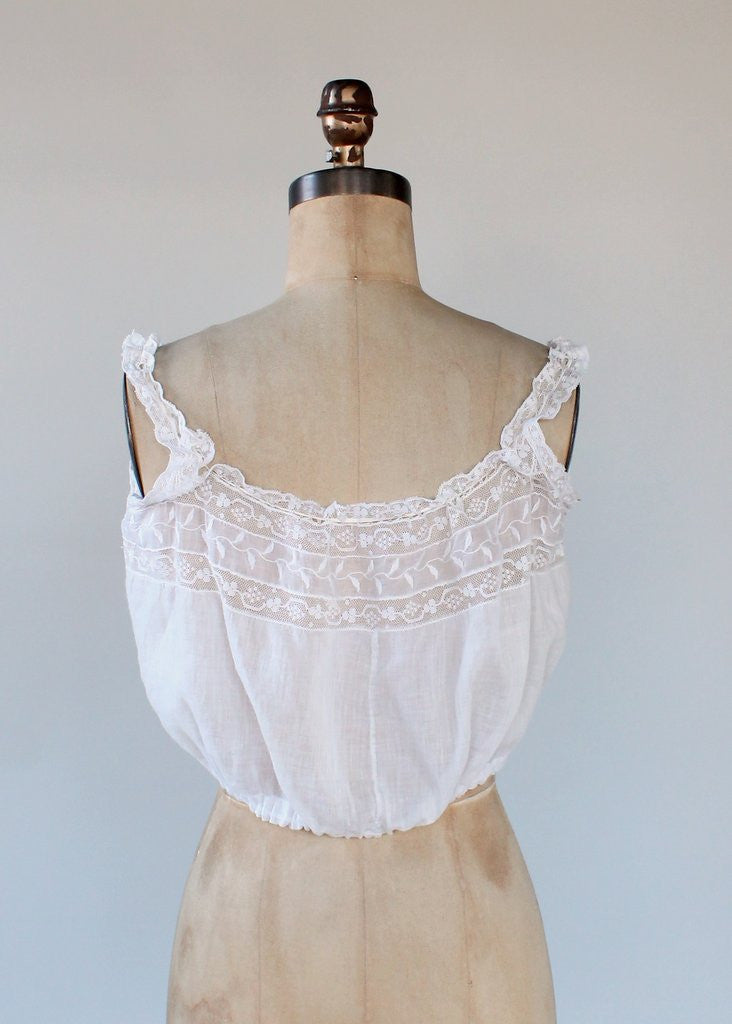 Edwardian Lace and Cotton Camisole Tank