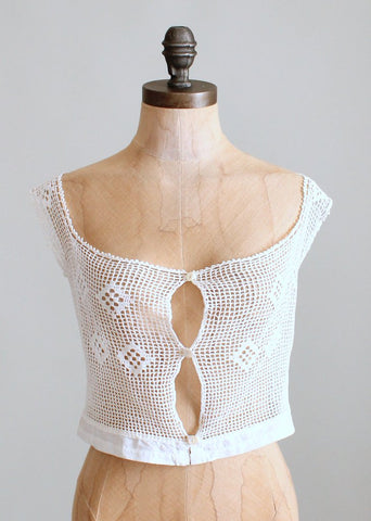 Antique Edwardian Crocheted Camisole Vest