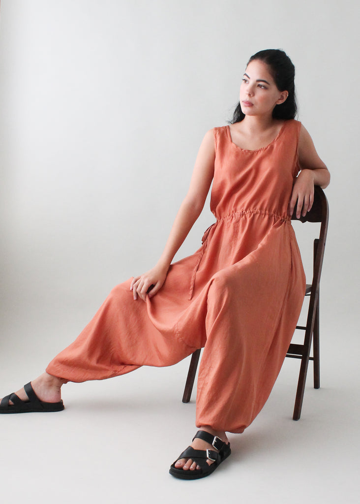 Electric Feathers Silk Jumpsuit