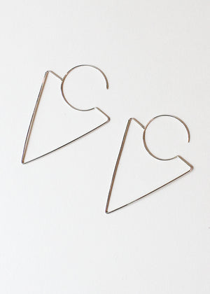 S. Tector Metals Triangle Earrings