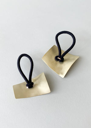 Geometric Brass Ponytail Holder