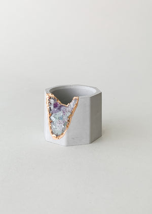 Small Geode & Concrete Vessel