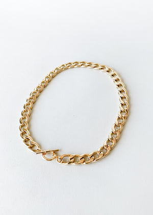 Chunky Gold Toggle Chain