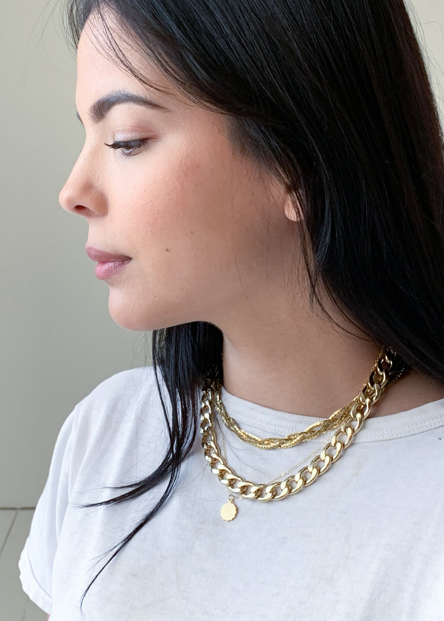 Vintage Braided Gold Chain Necklace