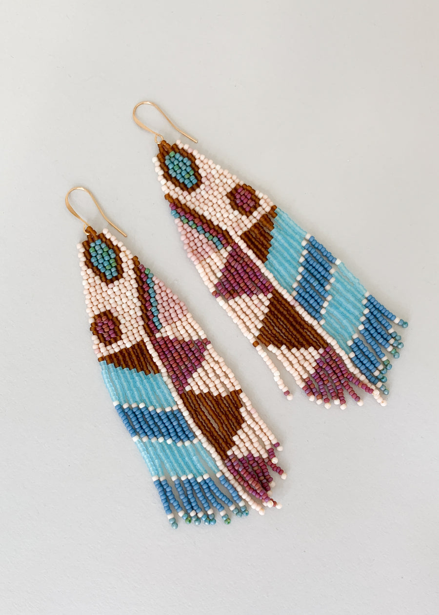 Moth Variation Four Beaded Earrings