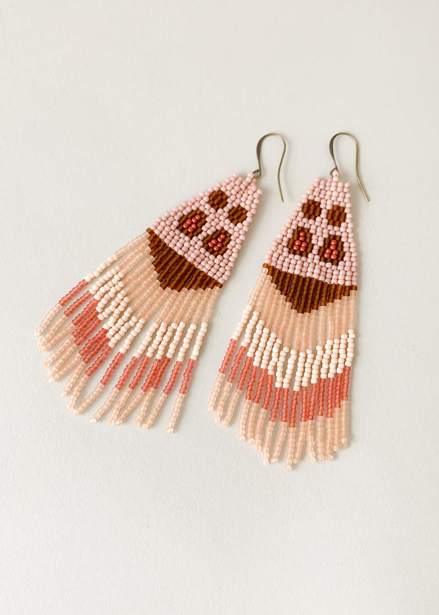 Moth Variation Five Beaded Earrings
