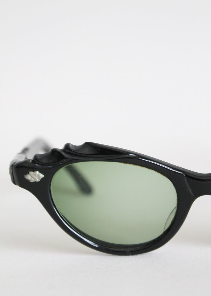 Vintage 1950s black cat eye sunglasses