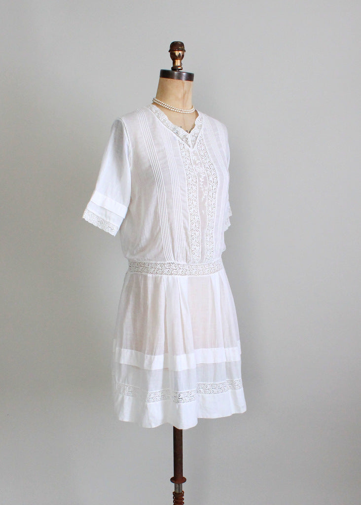 Antique Edwardian cotton day dress