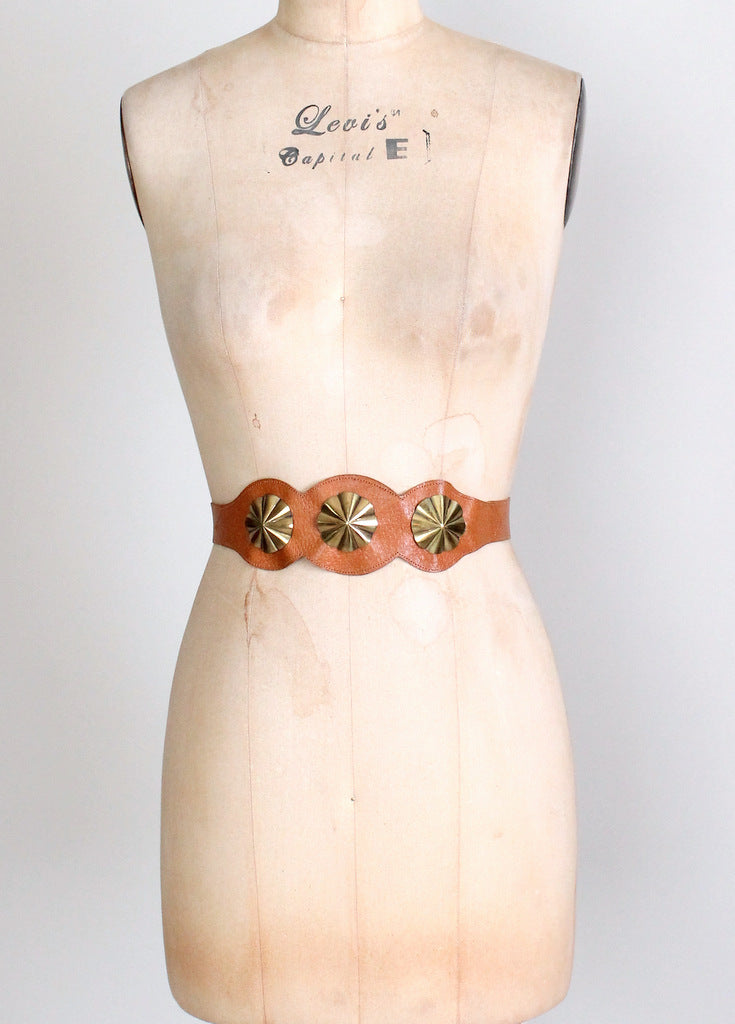 1950s leather cinch belt