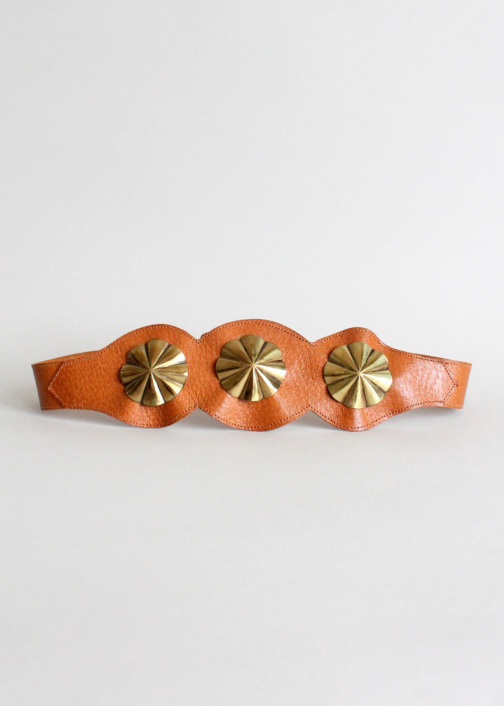 vintage 1950s leather cinch belt