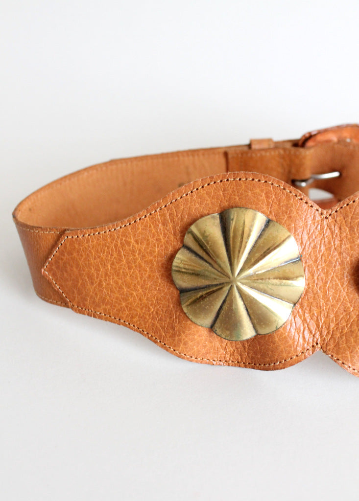 1950s rockabilly leather belt