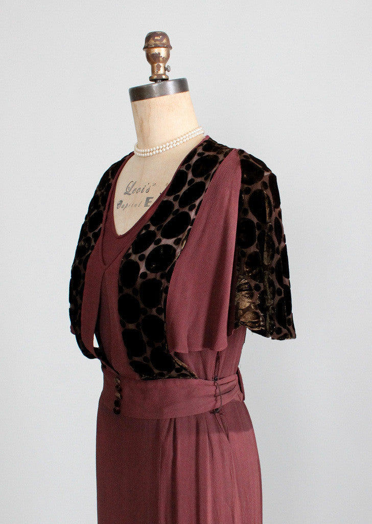 Authentic 1930s Vintage Dress