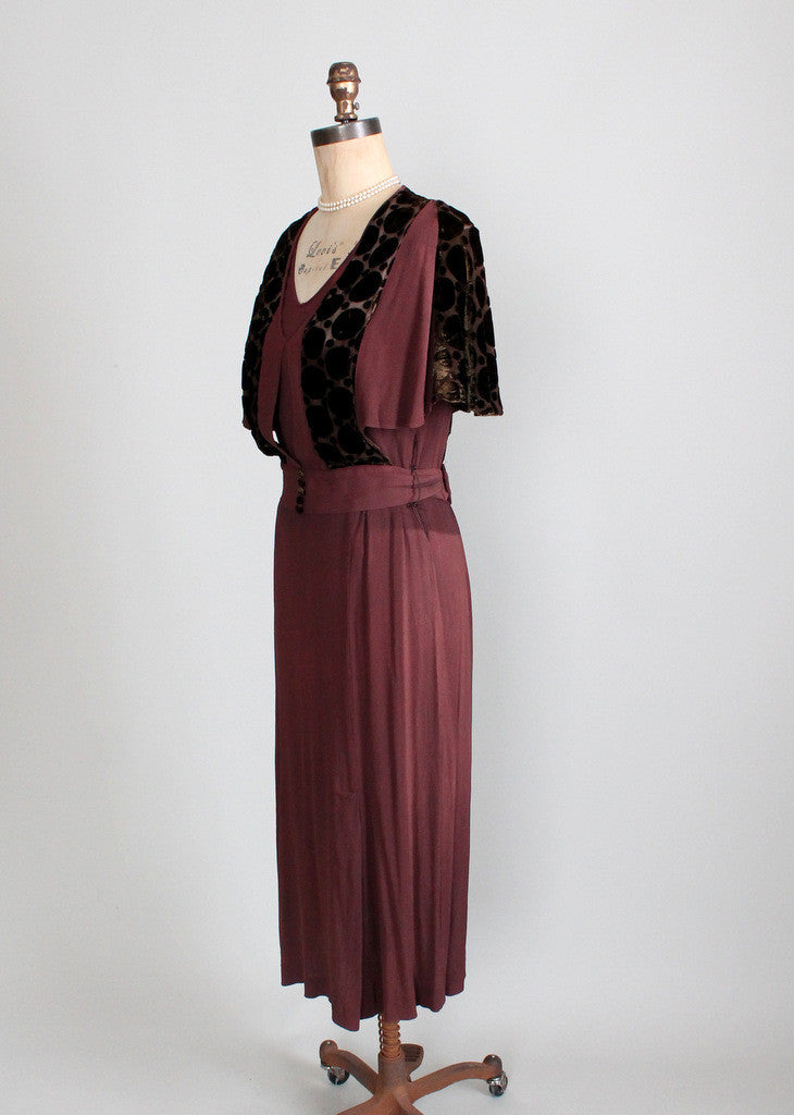 Vintage 1930s Old Hollywood Dress