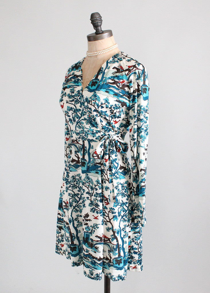 Vintage 1970s Novelty Print Mini Dress