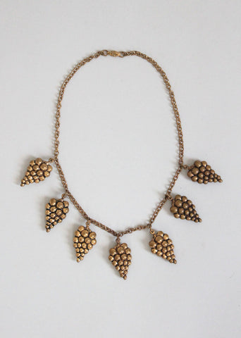 Vintage 1930s Brass Bacchanal Necklace