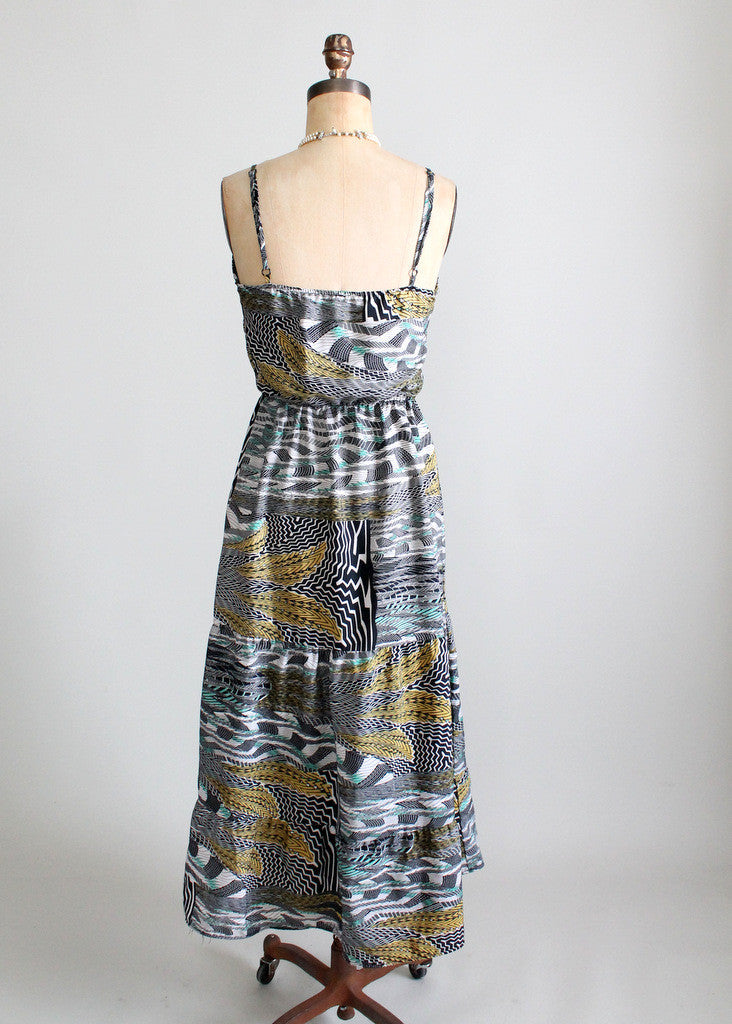 Vintage 1970s Urban Jungle Sundress