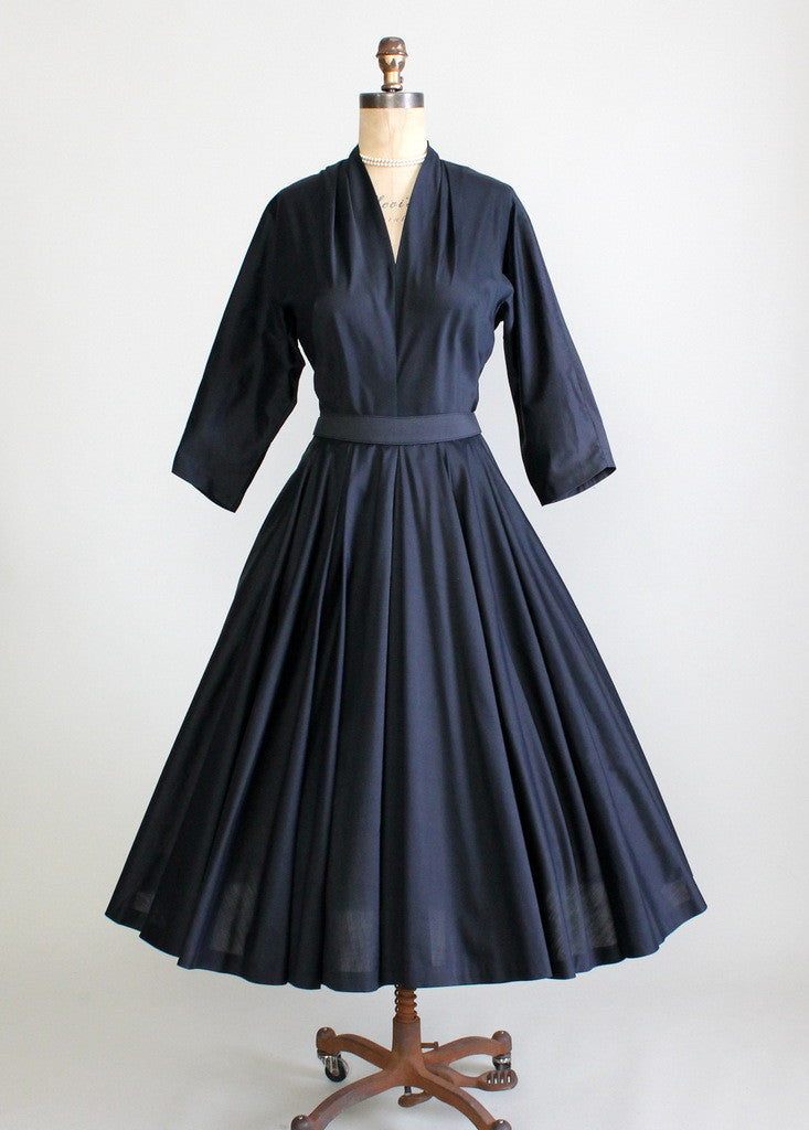 Vintage 1950s Norman Wiatt Day to Night Dress