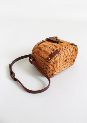 Vintage 1960s John Romain Wicker Creel Purse