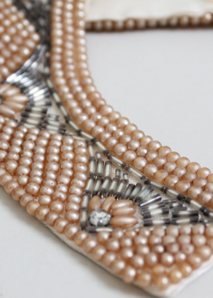 Vintage 1950s beaded collar