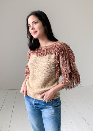 Vintage Shaggy Shoulder Sweater