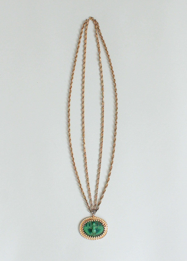 Vintage Late 1960s Napier Egyptian Statement Necklace
