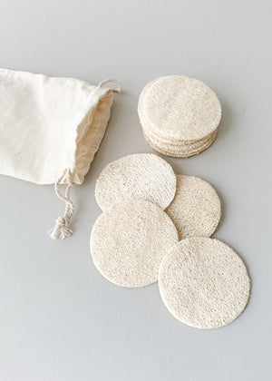 Natural Loofah Face Cleansing Pads