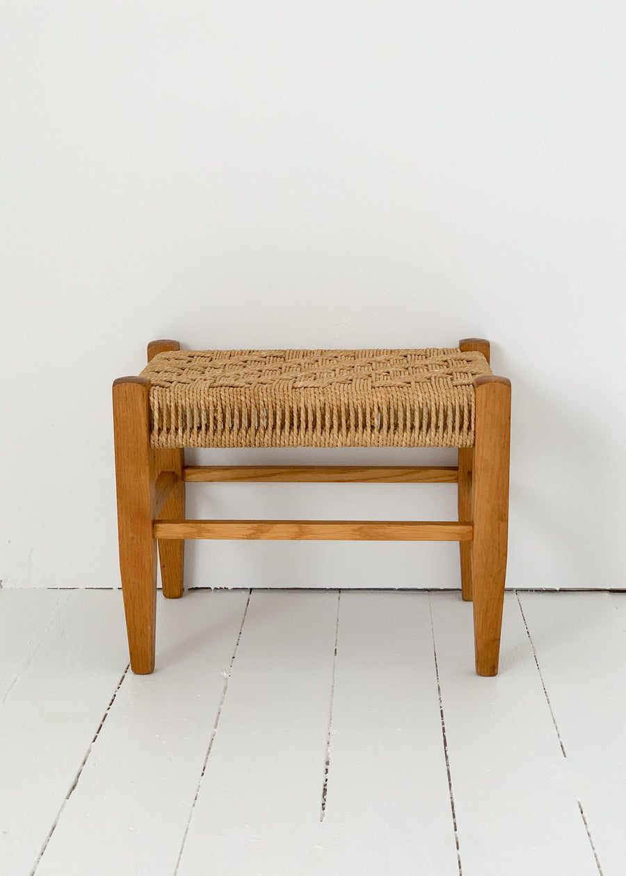 Vintage Danish Rope Stool