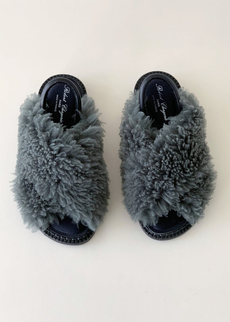 Robert Clegerie Faux Fur Sandals