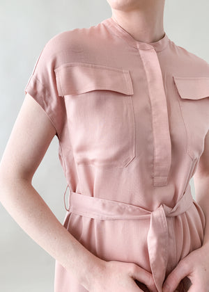 Vintage 1980s Blush Shift Dress