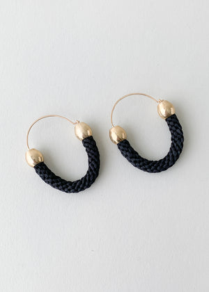 Kumi Hoops in Ebony