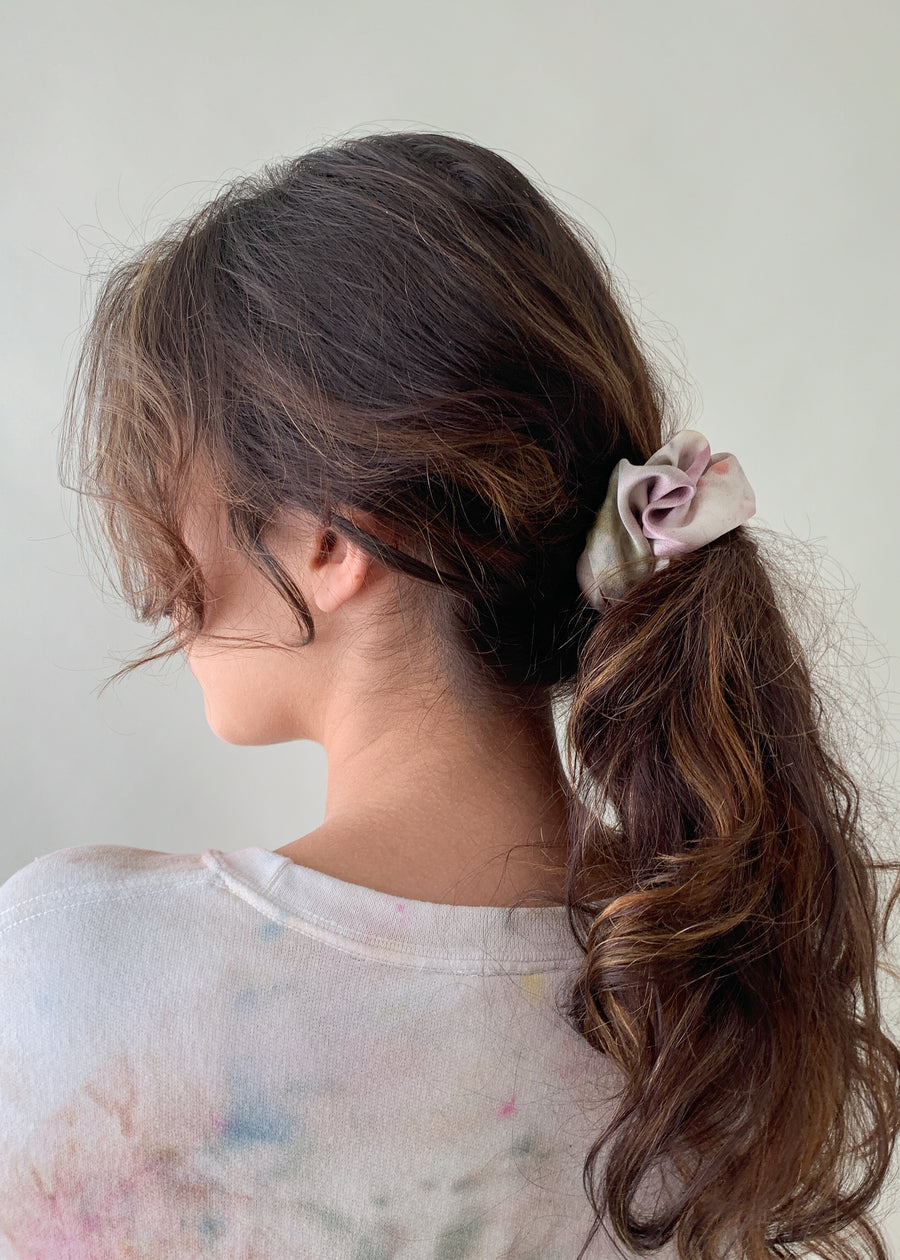 Hand-Dyed Silk Scrunchie