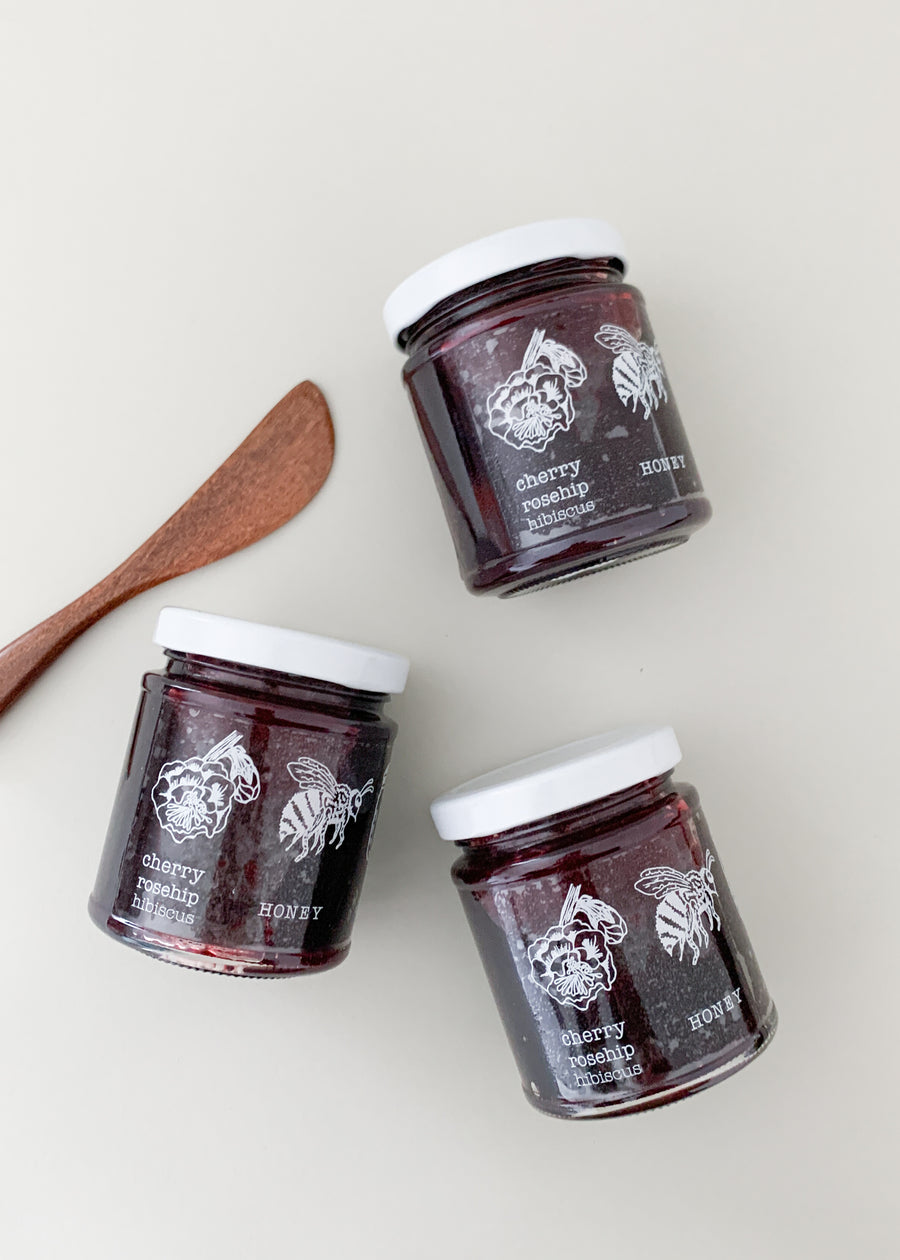 Cheery Rosehip HIbiscus Honey Jam