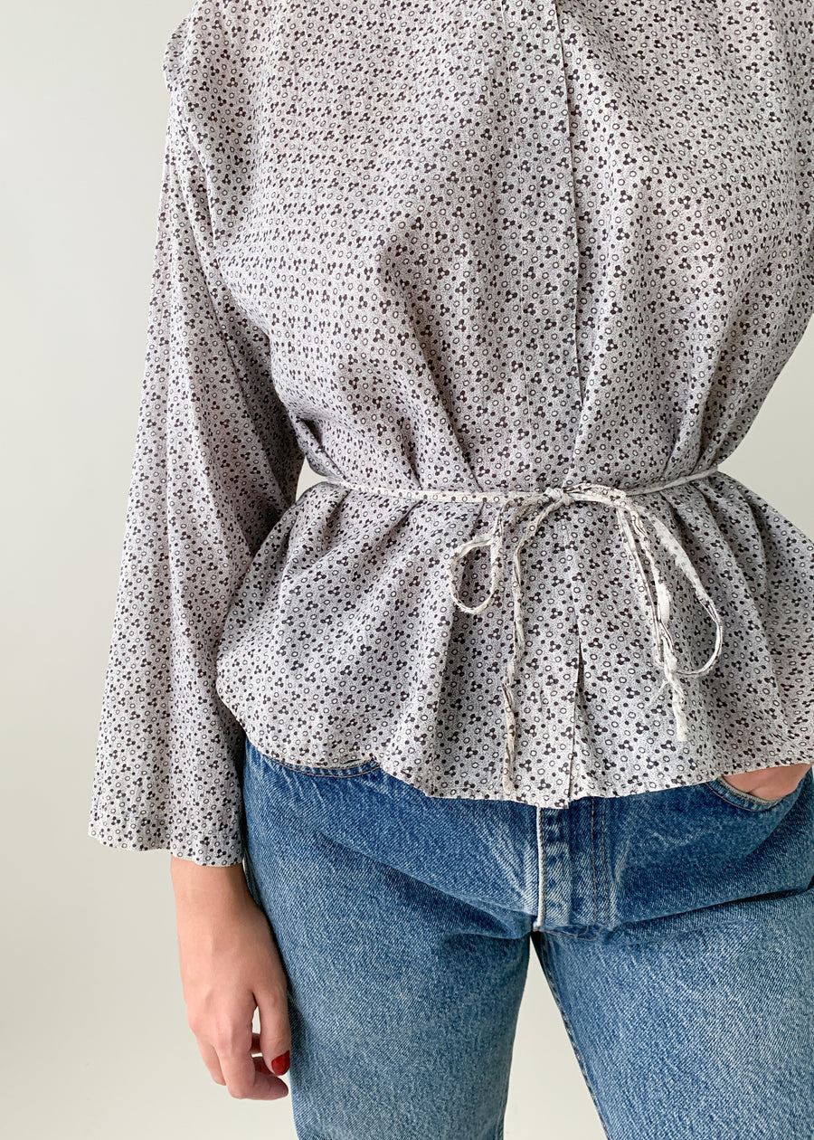Antique Calico Cotton Work Shirt