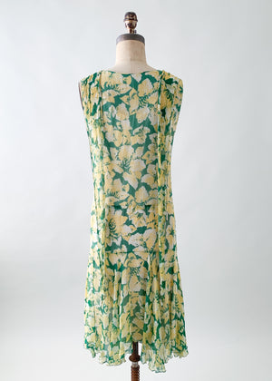 Vintage 1920s Silk Chiffon Dress