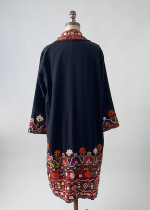Vintage 1920s Silk Kutch Embroidered Coat