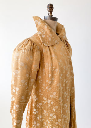 Vintage 1930s Gold Brocade Coat