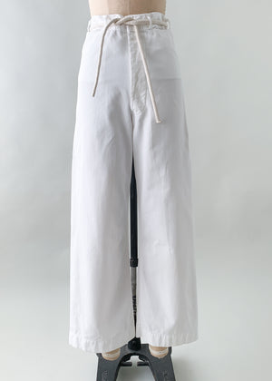 Vintage 1940s USN white cotton pants