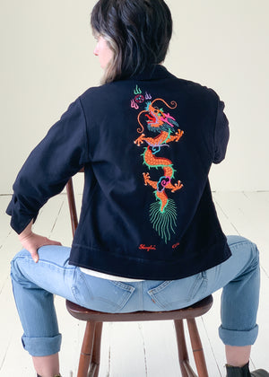 Vintage 1940s WWII Embroidered Souvenir Jacket