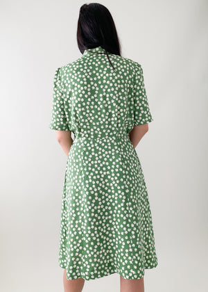 Vintage Early 1940s Rayon Dress