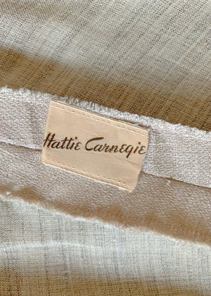 Vintage 1950s Hattie Carnegie Linen Dress