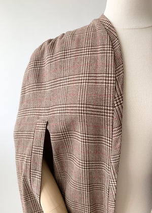 Vintage Late 1940s Wool Cape