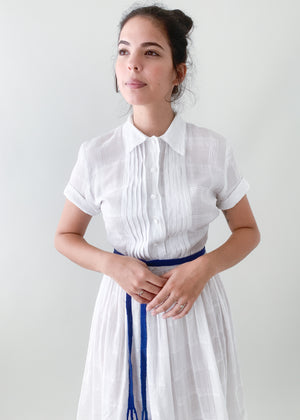 Vintage Sheer Windowpane Check Dress