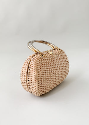 Vintage 1960s Wicker Purse