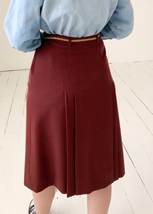 Vintage 1970s French Classic Wool Skirt