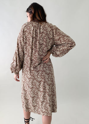 Vintage 1970s Galanos Silk Dress