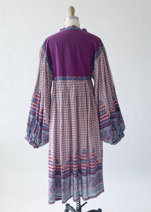 Vintage 1970s Indian Cotton Dress