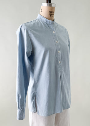 Vintage 1970s Yves Saint Laurent Chambray Shirt
