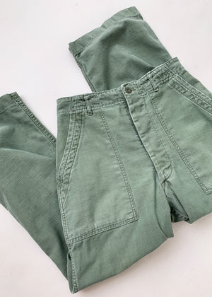 Vintage 1960s US Army Fatigue Pants