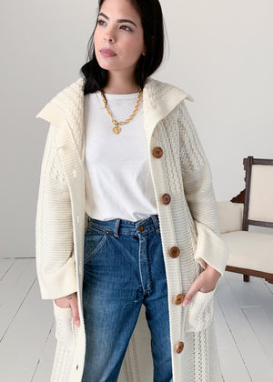 Vintage 1970s Sweater Knit Duster