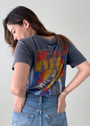 Vintage 1984 Thrashed KISS Tee Shirt